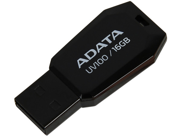 Unidad Flash USB 2.0 ADATA DashDrive UV100 de 16 GB.