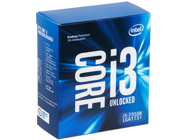Procesador Intel Core i3-7350K de Séptima Generación, 4.2 GHz con Intel HD Graphics 630, Socket 1151, L3 Caché 4 MB, Dual-Core, 14nm.